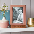 Copper Photo Frame With Personalised Stand