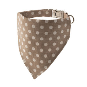 Biscuit Large Polka Bandana Dog Collar - dog collars