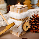 Wooden And Faux Fur Candle Holder Gift Collection