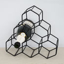 Geometric Metal Wine Holder
