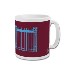 'Boleyn Gates' Minimalist Graphic West Ham United Mug - kitchen