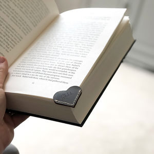 Personalised Heart Leather Bookmark