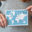 Travel Inspired Wedding Invitation 'Claire'