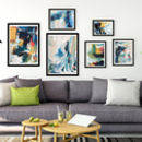 Abstract Art Print Set Gallery Wall Five Prints