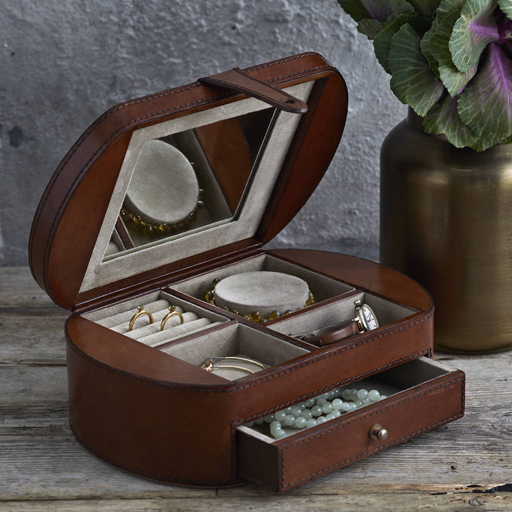 Leather Vintage Jewellery Box