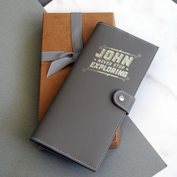 Personalised Leather Travel Document Wallet