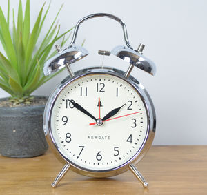 Newgate Covent Garden Alarm Clock Chrome, Grey Or White - clocks