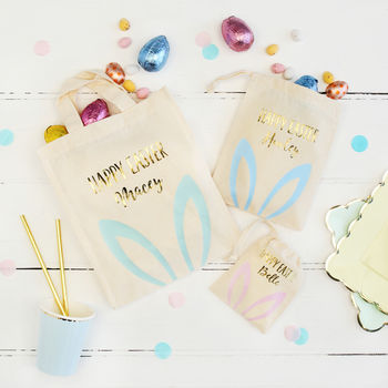 Personalised Pastel Bunny Ears Bag