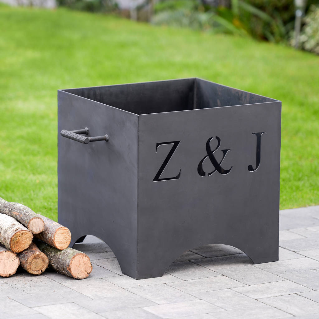 Personalised metal fire pit