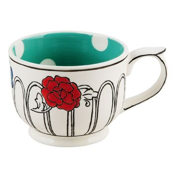 Molly Hatch Green Spot Flower Mug