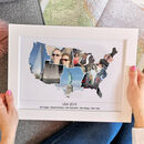 Personalised Travel Photo Gift Map