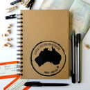 Personalised Stamp Travel Journal