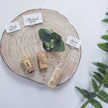 Cork Wedding Place Setting Holders