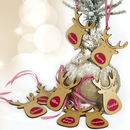 Eight Personalised Reindeer Gift Tags