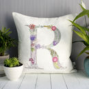 Personalised Cushion With Botanical Inspired Lettering