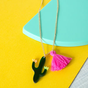 Cactus Acrylic Sweet Thing Necklace