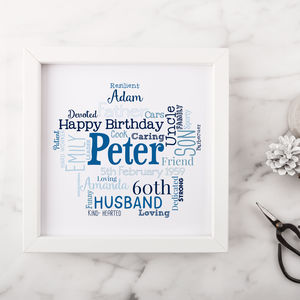 Personalised 60th Birthday Gift For Him