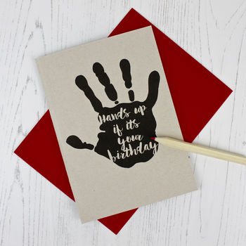 Hand Print Birthday Card