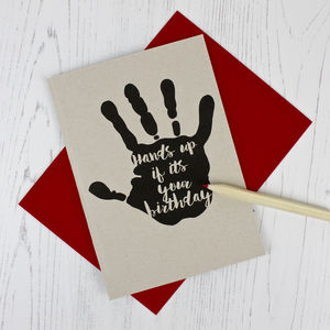 Hand Print Birthday Card - summer sale