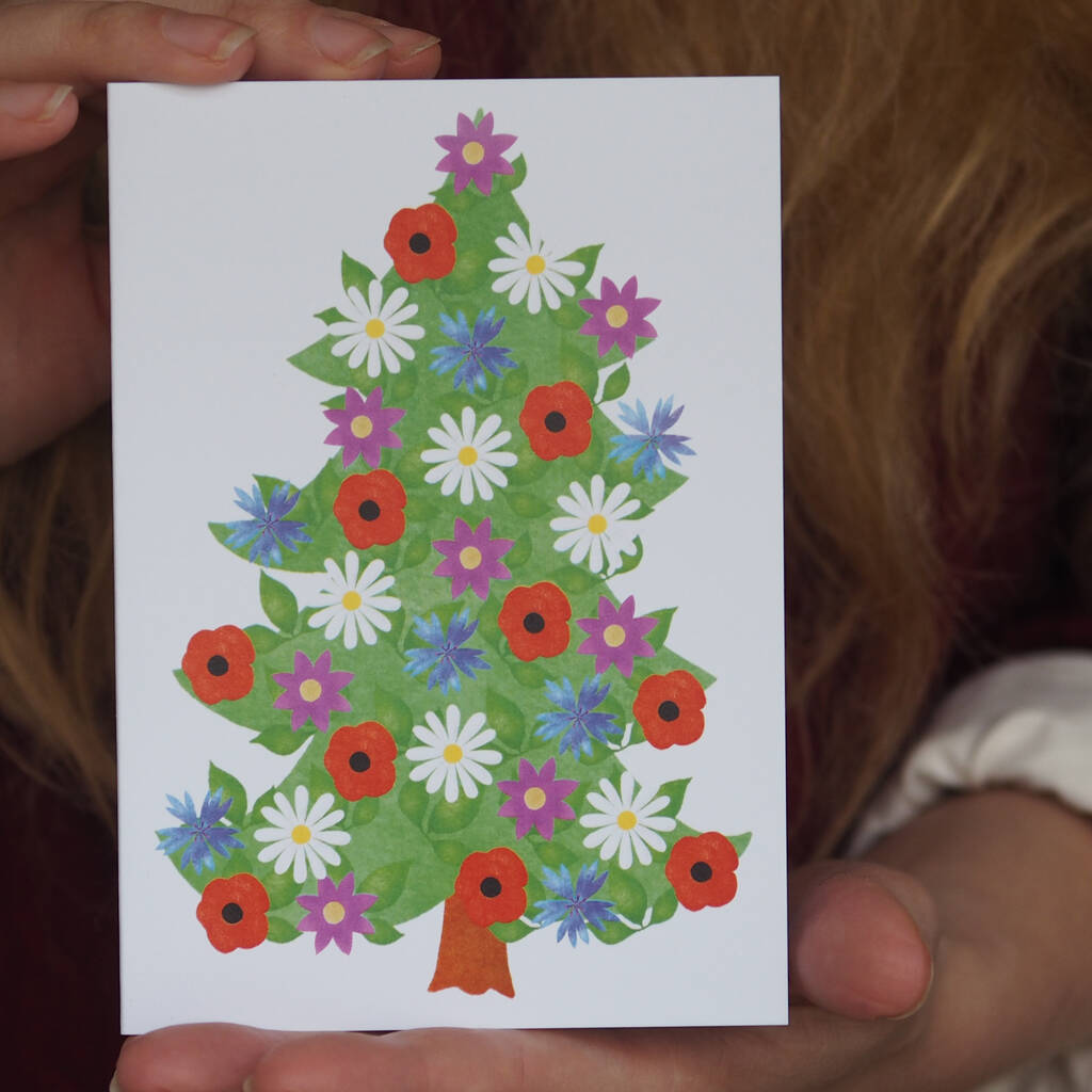Wildflower Tree Christmas Card / Pack By So Close ...