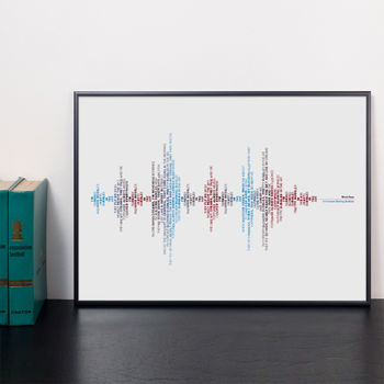 West Ham, Sound Wave Typography Print