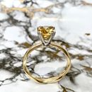 Citrine 9ct Yellow And White Gold Engagement Ring