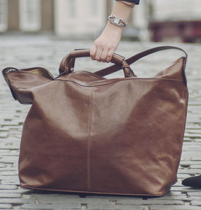 The Finest Italian Leather Travel Bag. 'The Fabrizio' - holdalls & weekend bags