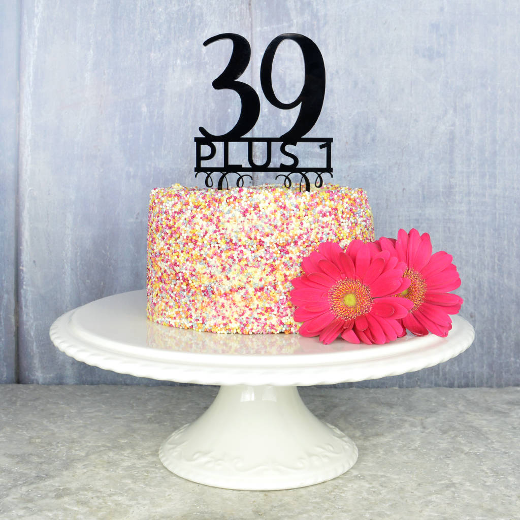 Peachy 40Th Birthday Cake Topper By Pink And Turquoise Funny Birthday Cards Online Alyptdamsfinfo
