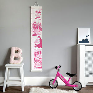 Personalised Follow Your Dreams Princess Height Chart