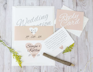 Heart + Arrow Wedding Invitation Bundle - wedding stationery