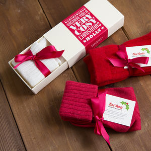 Cosy Christmas Mohair Or Cashmere Bed Socks - stocking fillers