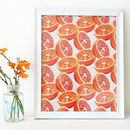 Grapefruit And Orange Pattern Print