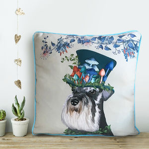Schnauzer Cushion, The Milliners Dogs