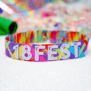 18th Birthday Party Festival Wristbands 18 Fest