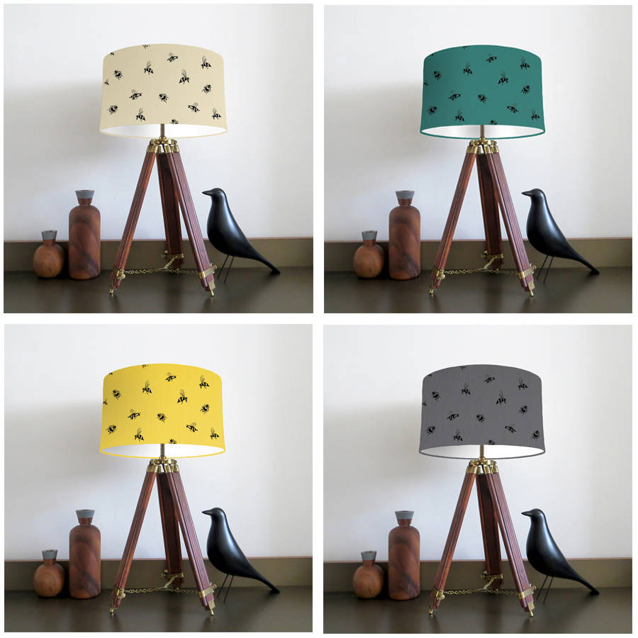 Lemon lamp shades uk home decorating ideas interior design ble bee lampshade with fabric colour options by bymarie aloadofball Image collections