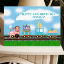 Personalised Birthday Train Photo Card A5