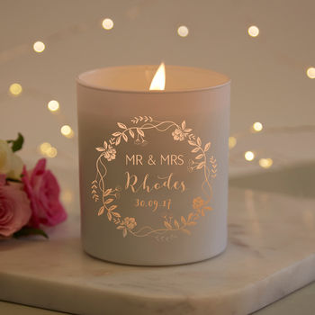 Wedding Gift Personalised Scented Candle