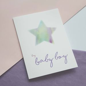 New Baby Boy Greetings Card - shop by category