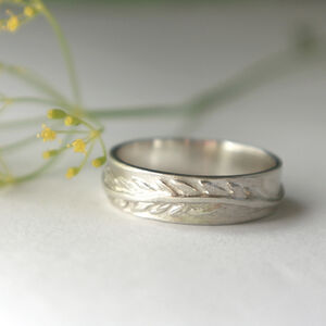 Sterling Silver Fern Leaf Ring