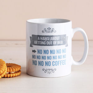 Funny Getting Out Of Bed Mug - tableware