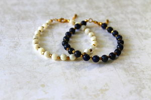 Children's Hand Beaded Semi Precious Stone Bracelet - whatsnew