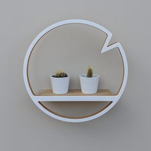 Modern Wooden Circle Shelf With Notch - home picks with free mainland uk delivery