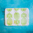 Personalised Pineapple Print Laptop Or Tablet Case
