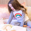 Personalised Rainbow Children's Pyjamas