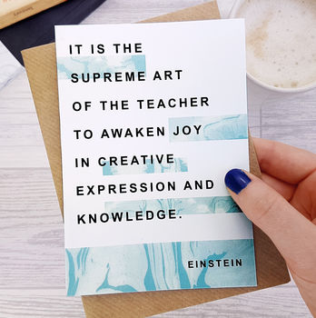 Thank You Teacher Card Einstein Quote