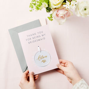 Personalised Bridesmaid Thank You Keepsake Card - summer sale