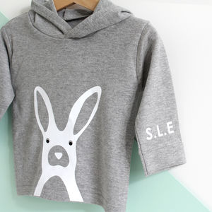 Rabbit, Personalised Initails Hoody