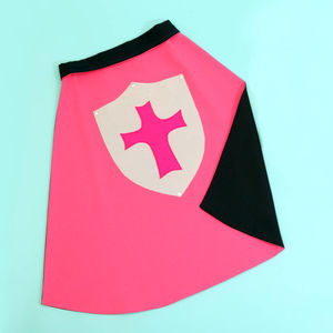 Cerise Pink Knight Dressing Up Cape