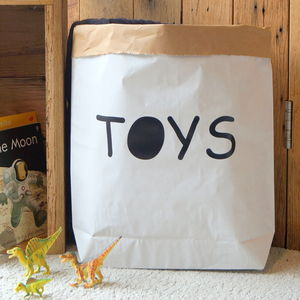 'Toys' Paper Storage Bag - laundry room