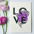 Love Botanical Letterpress Card